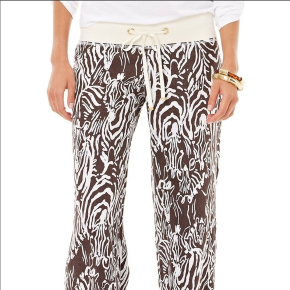 Lilly Pulitzer Entourage Beach Pants Zebra M